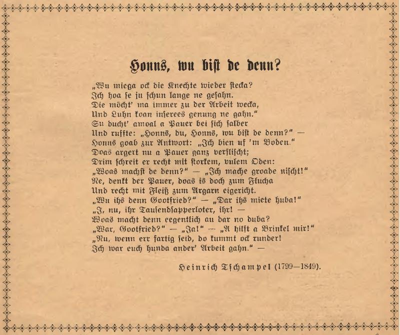 Wiersz Heinricha Tchampela Dziedzictwo Językowe